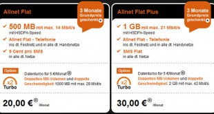 Congstar Allnet Flat Plus Datenturbo