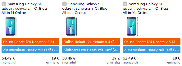 Galaxy S6 EDGE Plus O2 Allnet Flat