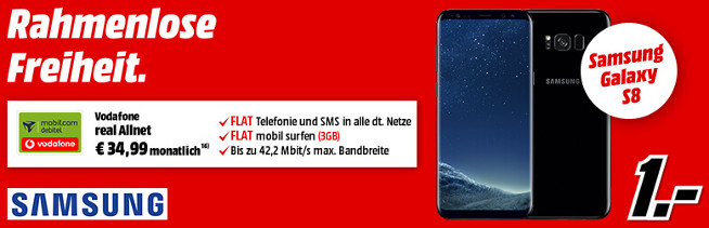 Galaxy S8 Allnet Flat Handyvertrag Media Markt