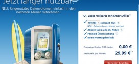 O2 Loop Freikarte mit Smart All-in Prepaid Allnet Flat
