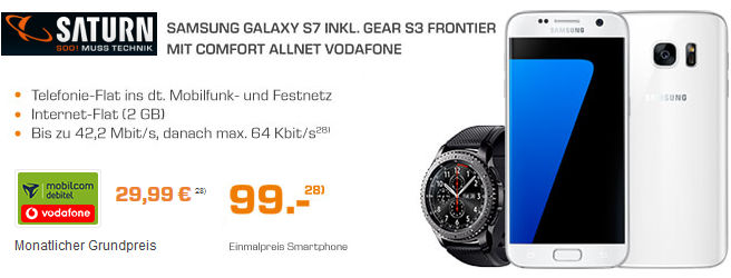 Saturn Galaxy S9 Gear S3 Oder Watch 46mm Lte Vertrag Ab 2199