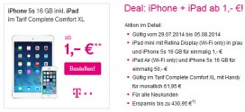 Telekom Allnet Flat iPhone 5s und iPad Air / mini