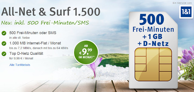 WEB.DE All-Net & Surf 1500 2500